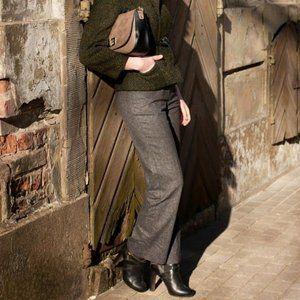 Investments Barbary Black Crosshatch Dress Pants